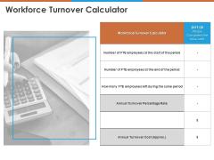 Workforce Turnover Calculator Ppt PowerPoint Presentation Ideas Background Designs PDF