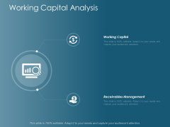 Working Capital Analysis Ppt Powerpoint Presentation Icon Example Introduction