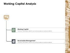 Working Capital Analysis Ppt Powerpoint Presentation Icon Summary