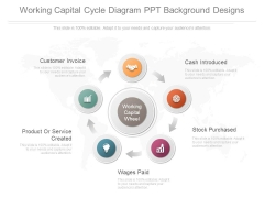 Working Capital Cycle Diagram Ppt Background Designs