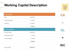 Working Capital Description Ppt PowerPoint Presentation File Structure
