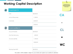 Working Capital Description Ppt PowerPoint Presentation Layouts Infographic Template