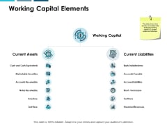Working Capital Elements Ppt PowerPoint Presentation File Icons