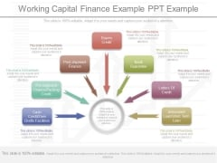 Working Capital Finance Example Ppt Example