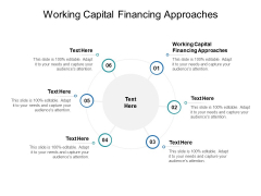 Working Capital Financing Approaches Ppt PowerPoint Presentation Inspiration Backgrounds Cpb