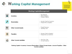 Working Capital Management Inventory Receivables Ppt PowerPoint Presentation Infographic Template Slides
