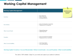 Working Capital Management Ppt PowerPoint Presentation Pictures Sample
