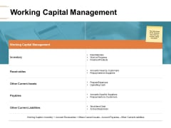 Working Capital Management Ppt PowerPoint Presentation Summary Tips