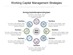 Working Capital Management Strategies Ppt PowerPoint Presentation Summary Outline Cpb