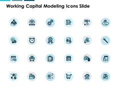 Working Capital Modeling Icons Slide Checklist Technology Ppt PowerPoint Presentation File Graphics Template