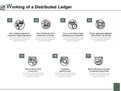 Working Of A Distributed Ledger Ppt PowerPoint Presentation Icon Portrait