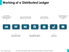 Working Of A Distributed Ledger Ppt PowerPoint Presentation Professional Portfolio