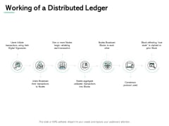 Working Of A Distributed Ledger Process Ppt PowerPoint Presentation Styles Guide