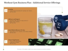 Workout Gym Business Plan Additional Service Offerings Ppt Slides Mockup PDF