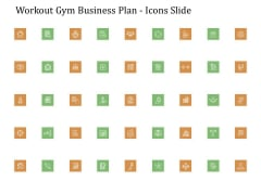 Workout Gym Business Plan Icons Slide Ppt File Icons PDF