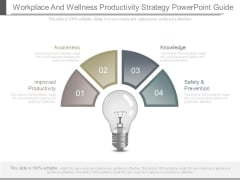 Workplace And Wellness Productivity Strategy Powerpoint Guide