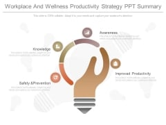 Workplace And Wellness Productivity Strategy Ppt Summary