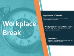 Workplace Break Ppt PowerPoint Presentation Infographic Template Example File