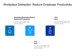 Workplace Distraction Reduce Employee Productivity Ppt PowerPoint Presentation Portfolio Layout Ideas Cpb
