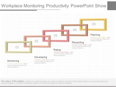 Workplace Monitoring Productivity Powerpoint Show
