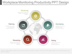 Workplace Monitoring Productivity Ppt Design