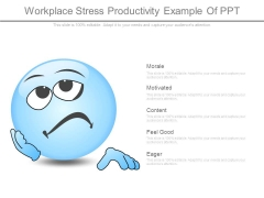 Workplace Stress Productivity Example Of Ppt