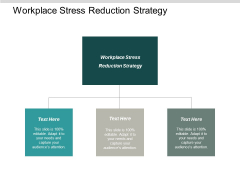 Workplace Stress Reduction Strategy Ppt PowerPoint Presentation Professional Microsoft Cpb