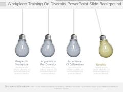 Workplace Training On Diversity Powerpoint Slide Background