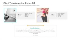 Workplace Wellness Client Transformation Stories Icon Formats PDF