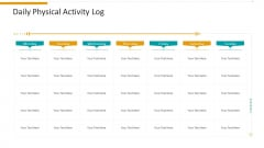Workplace Wellness Daily Physical Activity Log Background PDF