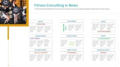 Workplace Wellness Fitness Consulting In News Infographics PDF
