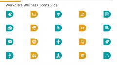 Workplace Wellness Icons Slide Demonstration PDF
