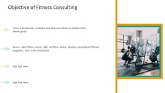 Workplace Wellness Objective Of Fitness Consulting Mockup PDF