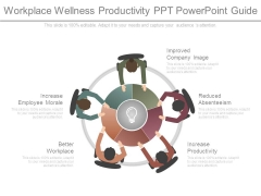 Workplace Wellness Productivity Ppt Powerpoint Guide