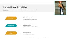 Workplace Wellness Recreational Activities Sample PDF
