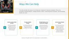 Workplace Wellness Ways We Can Help Template PDF