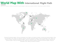 World Air Route Map Diagram Powerpoint Slides