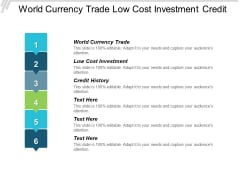 World Currency Trade Low Cost Investment Credit History Ppt PowerPoint Presentation Professional Background