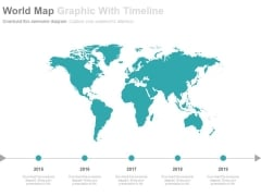 World Map For Global Business Timeline Powerpoint Slides