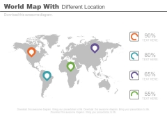World Map For Global Market Strategy PowerPoint Slides
