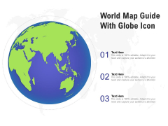 World Map Guide With Globe Icon Ppt PowerPoint Presentation Pictures Portrait PDF