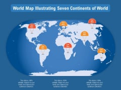 World Map Illustrating Seven Continents Of World Ppt PowerPoint Presentation File Summary PDF