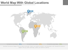 World Map With Global Economic Analysis Powerpoint Slides