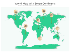 World Map With Seven Continents Ppt PowerPoint Presentation File Objects PDF
