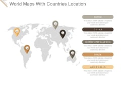 World Maps With Countries Location Ppt PowerPoint Presentation Shapes