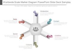 Worldwide Scale Market Diagram Powerpoint Slide Deck Samples