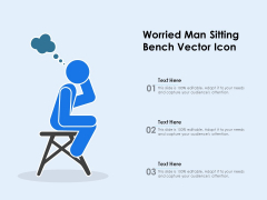 Worried Man Sitting Bench Vector Icon Ppt PowerPoint Presentation Professional Guide PDF
