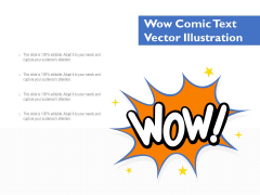 Wow Comic Text Vector Illustration Ppt PowerPoint Presentation Gallery Summary PDF