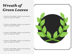 Wreath Of Green Leaves Ppt PowerPoint Presentation Ideas Diagrams