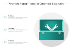 Wrench Repair Tools In Opened Box Icon Ppt Infographics Infographics PDF